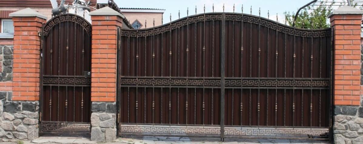 кованые врота фото