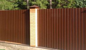 Профнастил забор изображение